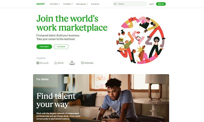 Upwork là một trong những nền tảng trung gian kết nối doanh nghiệp và các đơn vị agency tốt nhất hiện nay