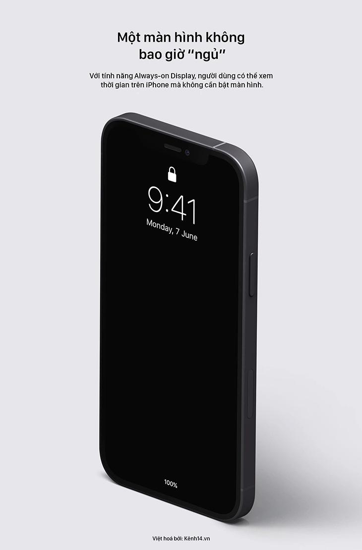 Tính năng Màn hình luôn bật (AOD) gần như chắc chắn sẽ xuất hiện trên chiếc iPhone tiếp theo