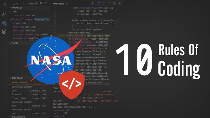 10 quy tắc để code như những lập trình viên hàng đầu tại NASA