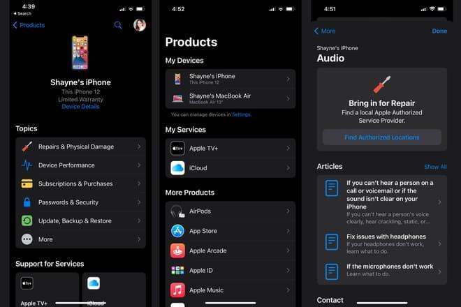 Apple cho phép người dùng truy cập vào một loạt chủ đề liên quan đến thiết bị, dịch vụ mà người dùng đã đăng ký và các sản phẩm khác trong hệ sinh thái Apple. Ảnh: Makeuseof.