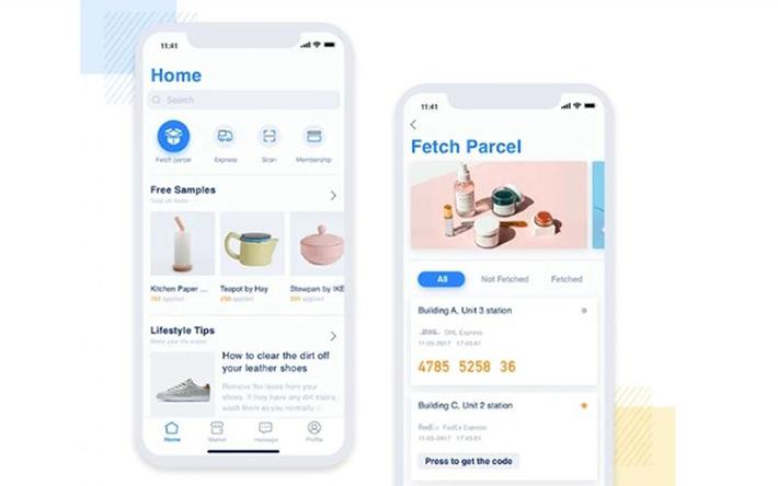 App design iOS parcel delivery
