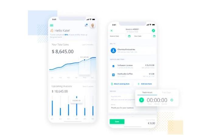 Invoicing app concept
