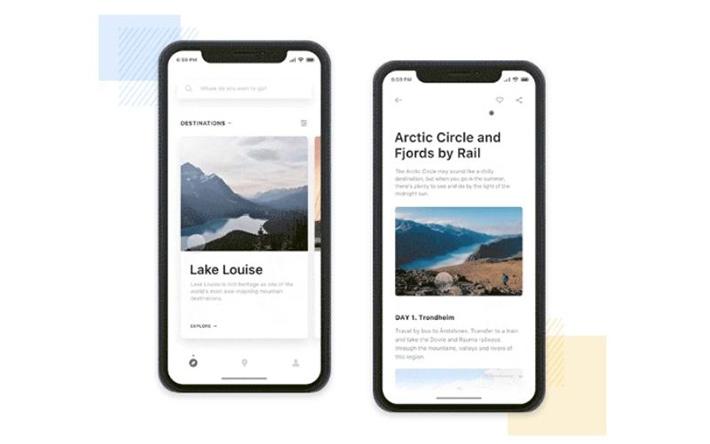 City guides iOS app design