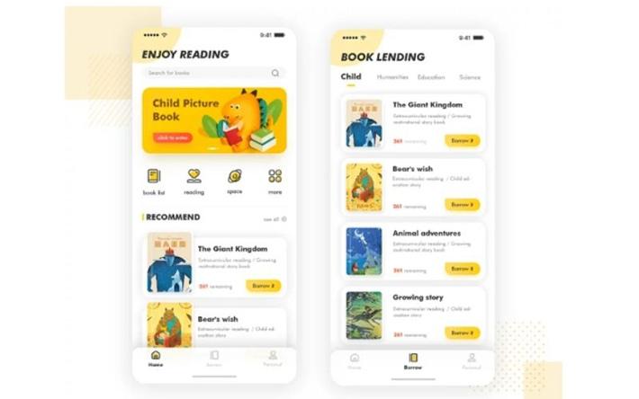 Children's reading app