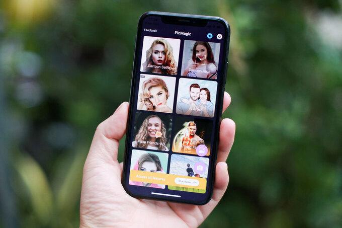 Giao diện ứng dụng Voilá đơn giản, dễ dùng. Bản dùng thử bị hạn chế nhiều bộ lọc, chèn nhiều quảng cáo và xử lý hình ảnh chậm.