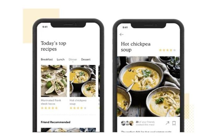 Concept làm app iOS chia sẻ công thức nấu ăn